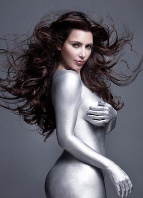 Sexy Kim Kardashian Body Painted
