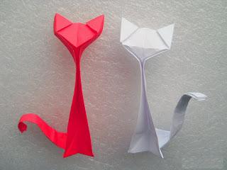 cara membuat origami origami kucing firaun