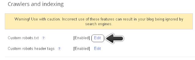 Custom robots.txt - Search preferences