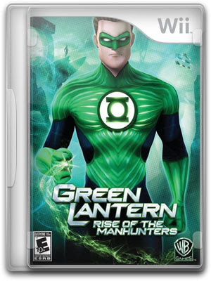 Capa Green Lantern Rise of The Manhunters wii