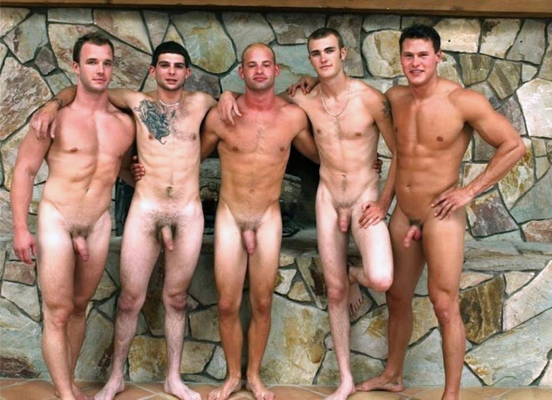 naked boys line up