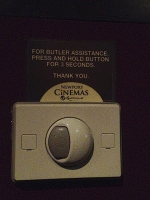 Button for butler assistance at Ultra Cinema