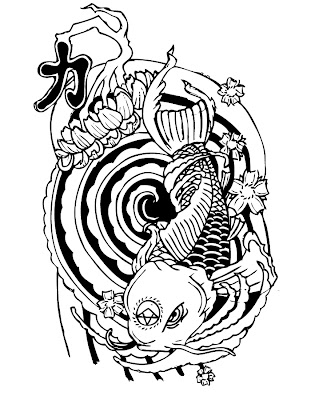 Koi Fish Tattoo Designs Sketch Collection 9