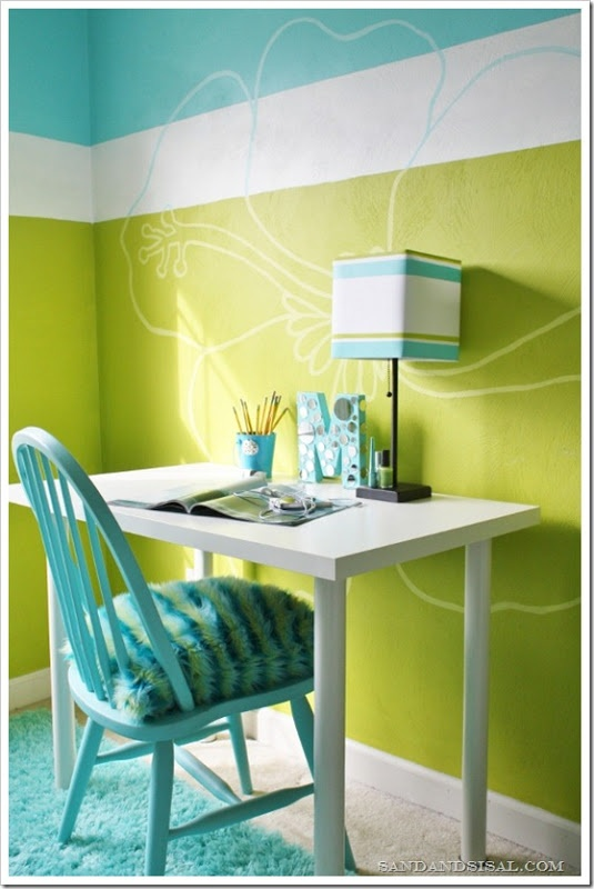 Eye for design decorating with the lime turquoise combination for Jugendzimmer young users
