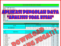 Download Gratis Aplikasi Analisis Butir Soal Uraian.xls