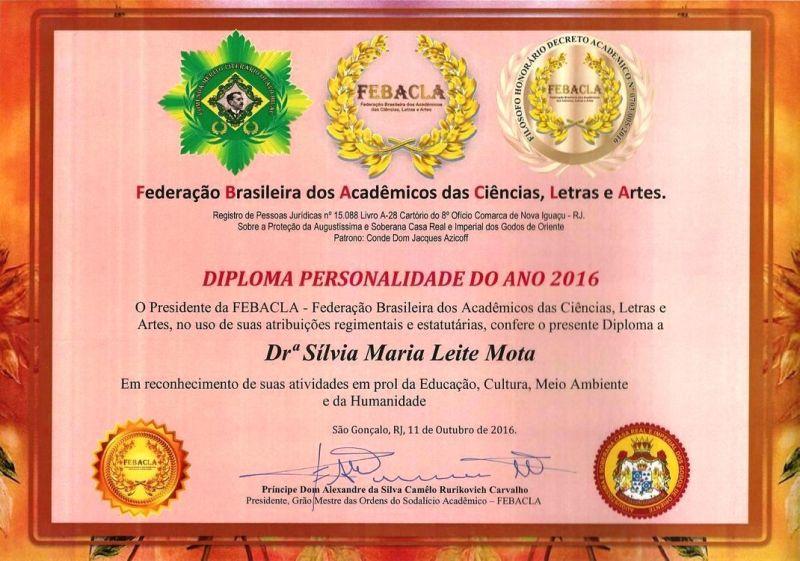 Diploma Personalidade do Ano 2016