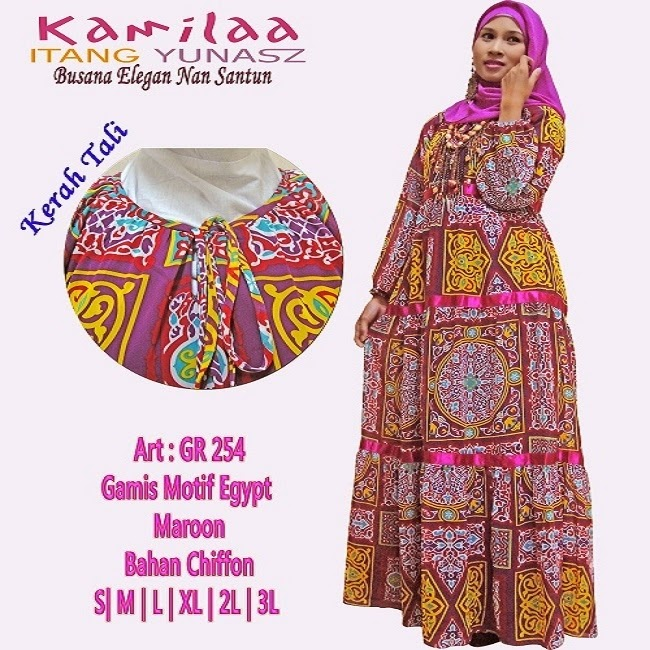 Baju Gamis Dari Etnik Yang Keren Info Model Baju Gamis