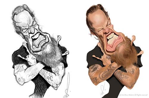 """James Hetfield"" por Steve Roberts"