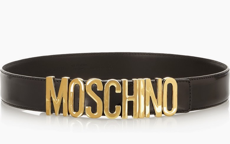 Moschino Olivia Leather Belt