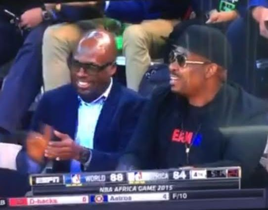 Don Jazzy & billionaire Tunde Folawiyo court side at the NBA Africa Game | PHOTOS