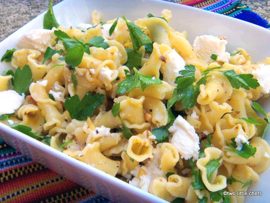 two little chefs: Campanelle Pasta with Walnuts, Ricotta, and Lemon