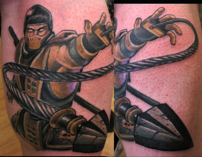 Tatuagem do Scorpion MK