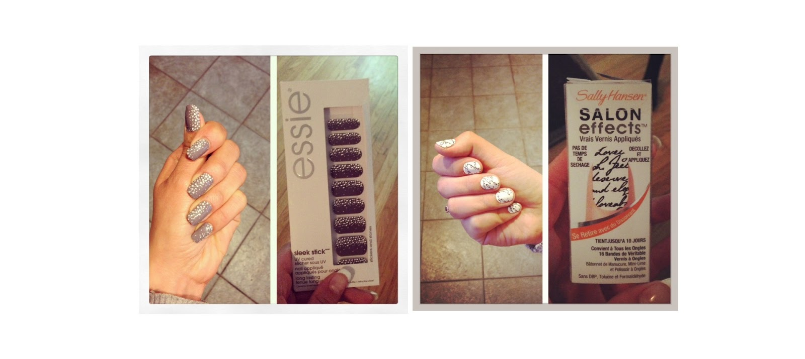 Champagneyaldii: essie Sleek Stick vs. Sally Hansen Salon Effects ...