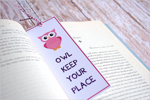 My owl barn 10 awesome valentine 39 s day owl printables for Diy bookmarks for guys