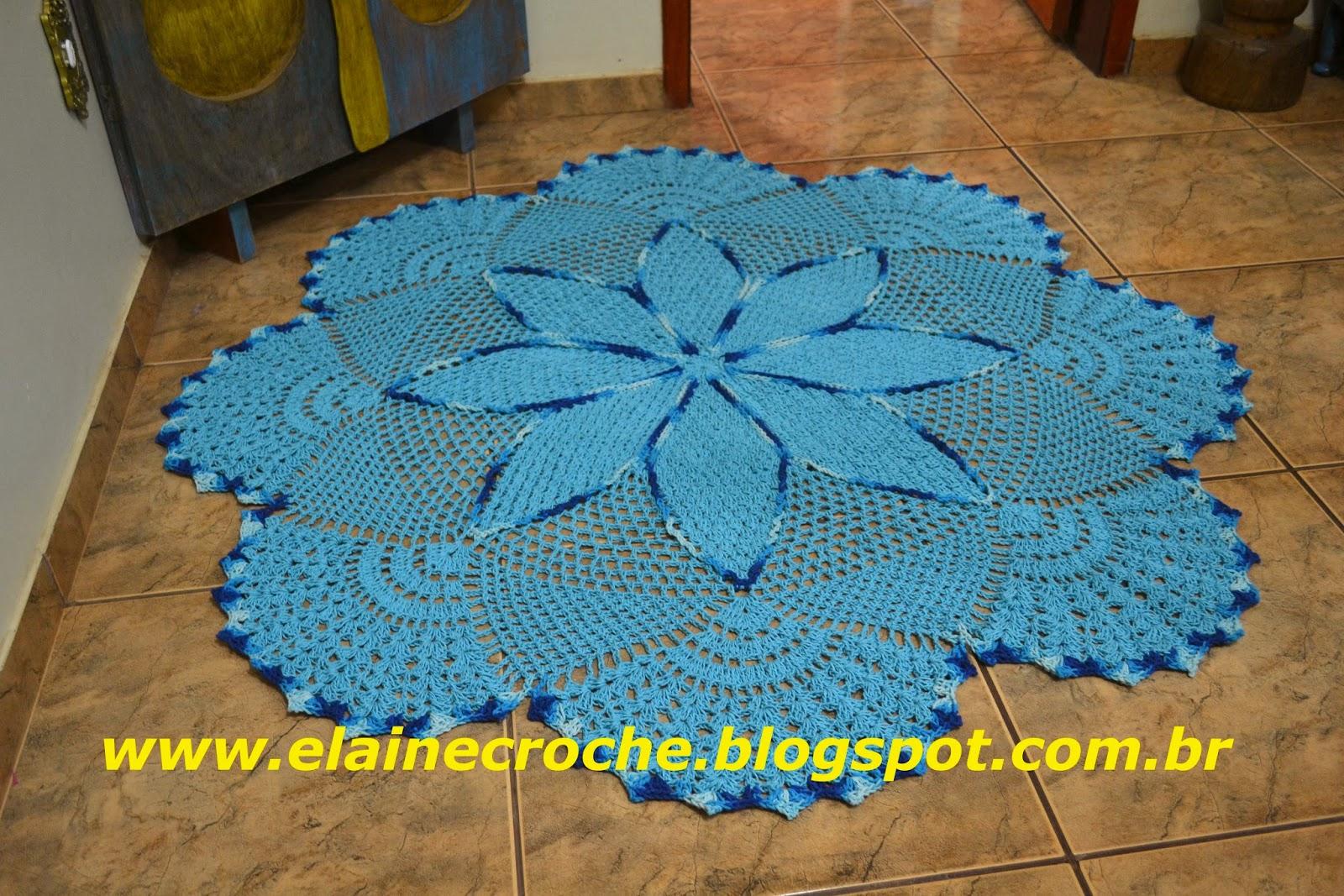 Вязание крючком овального коврика на пол 25