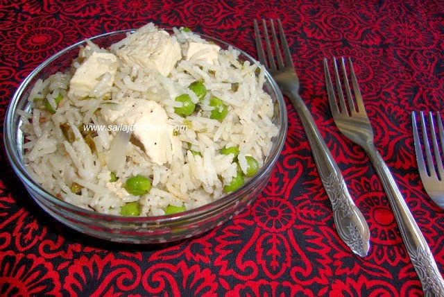 image of Simple Peas & Tofu Pulao