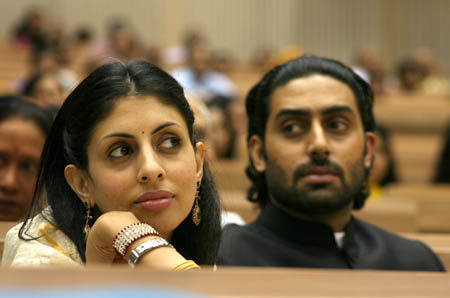 Shweta Nanda and  Abhishek Bachchan