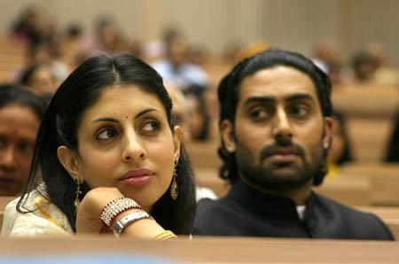 Shweta Nanda and  Abhishek Bachchan
