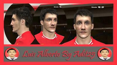 PES 2014 Luis Alberto Face by Adit25