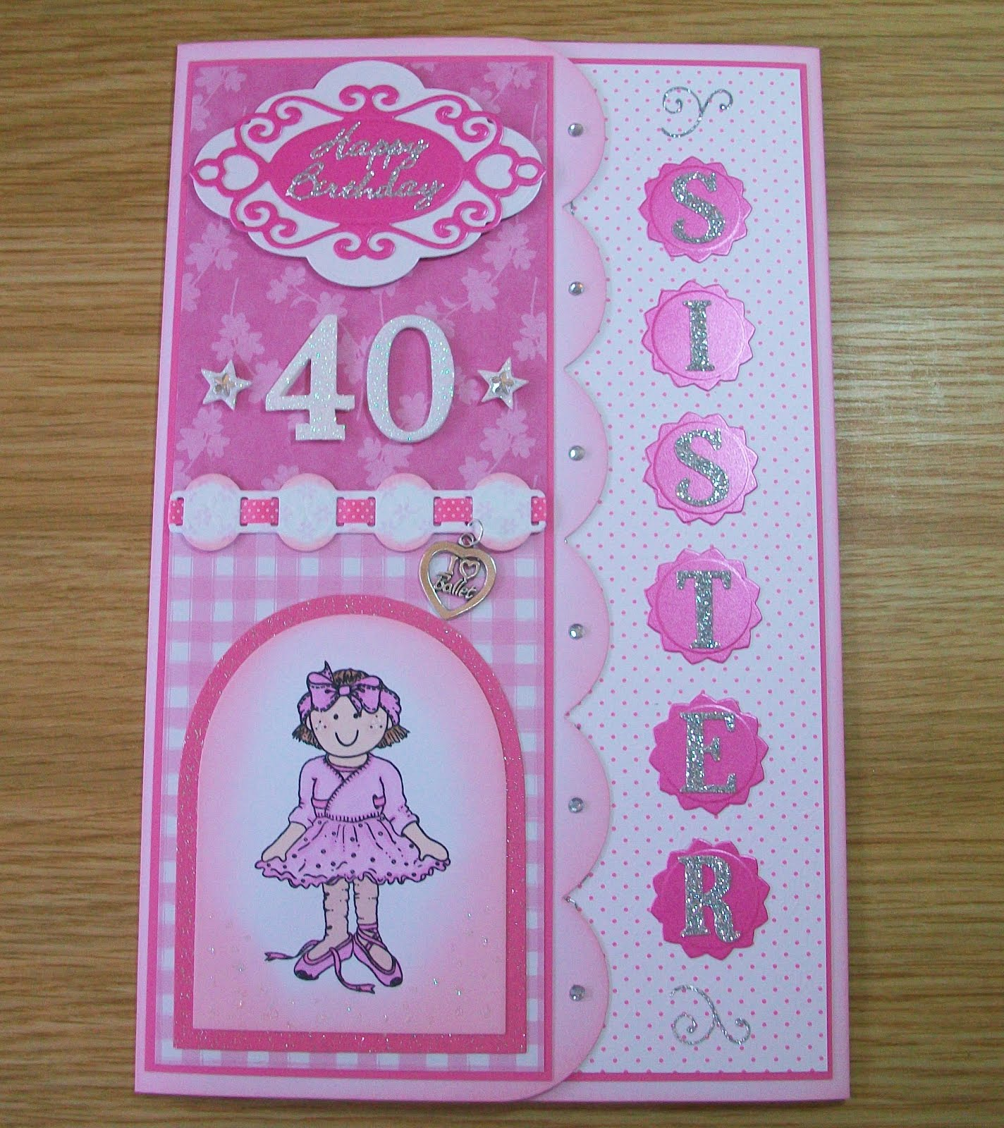 Crafty Minx This 40th Birthday Card winged it s way to