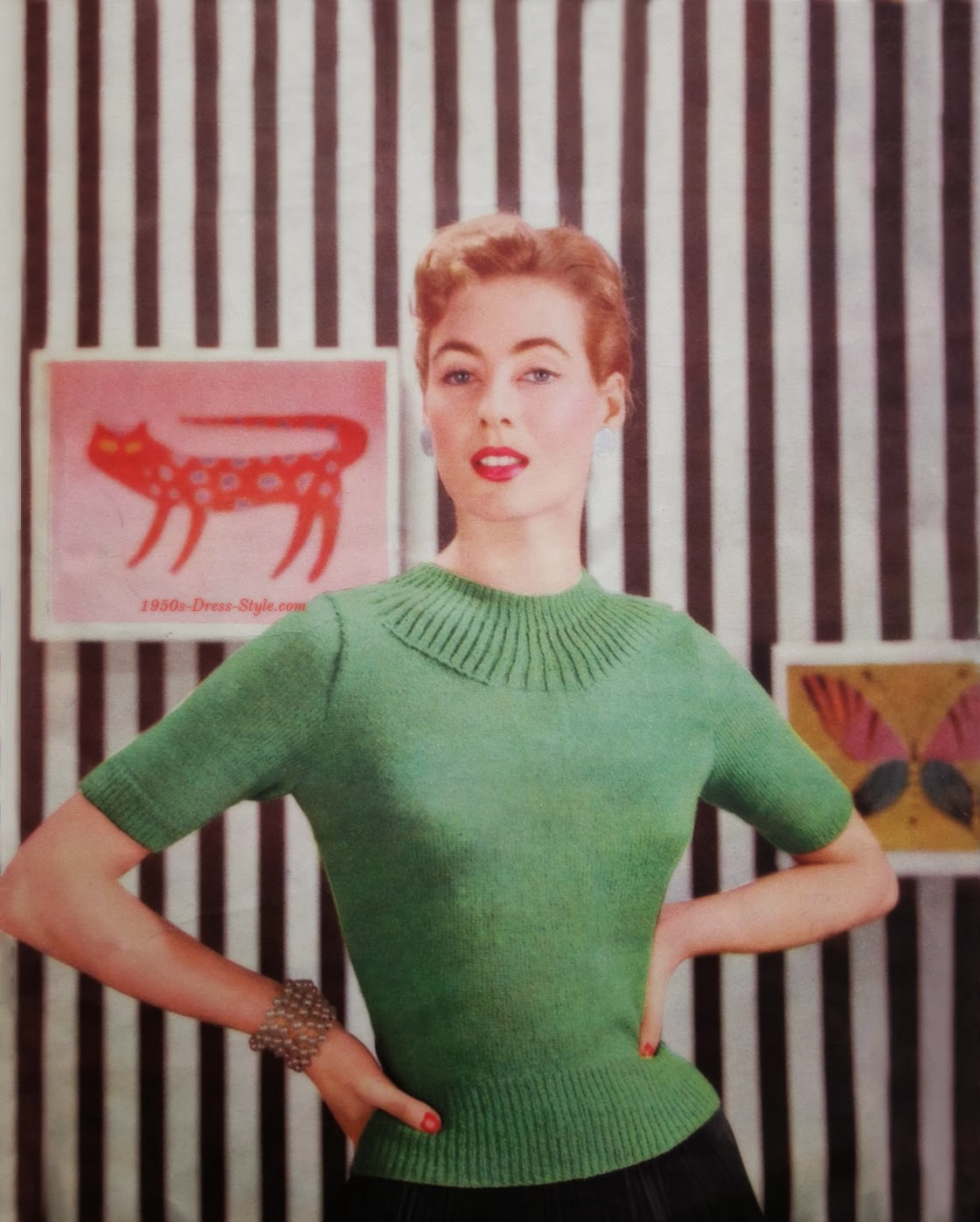 1950s Hairstyles ~ Clothing 1950s Dress Style