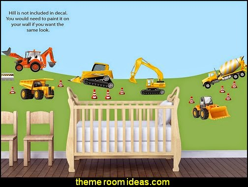Decorating theme bedrooms maries manor construction for Construction site wall mural