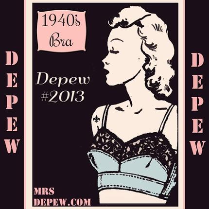 1940's bra pattern PDF