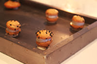 Caramelized onion macarons at Menton