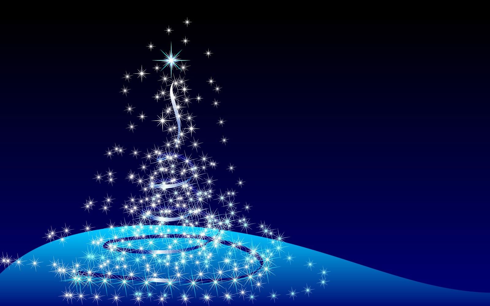 Lovely 3D Animation Christmas Tree In Blue Background