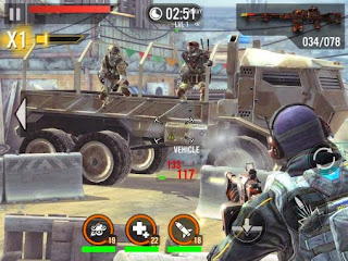 Screenshots of the Frontline commando 2 for Android tablet, phone.