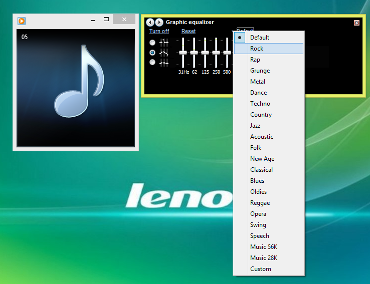 Menampilkan Graphic Equalizer Windows Media Player 4