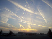 Sunrise revealed a web of jet airplane vapor trails over Bakersfield earlier . (vapor trails jan )