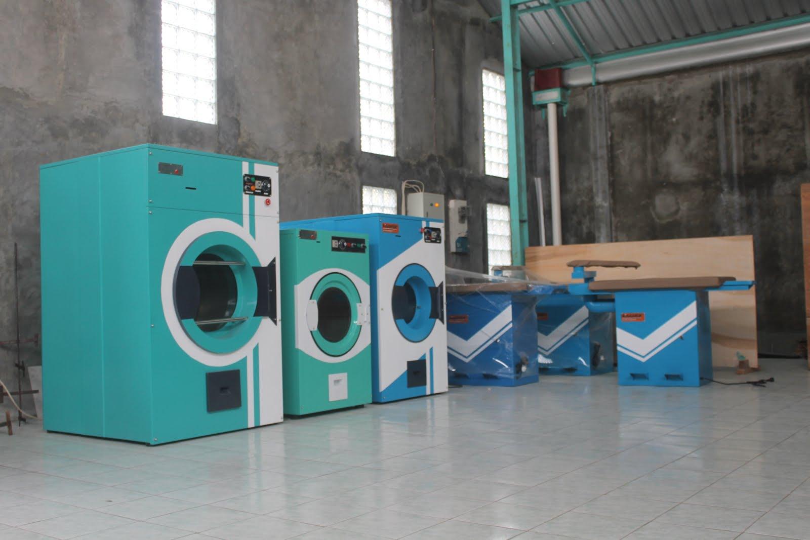 mesin pengering laundry gas