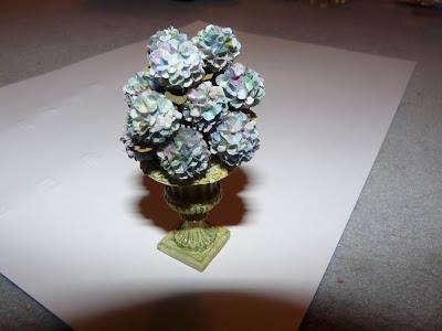 Hortensia, miniature, papier, Pascale GARNIER