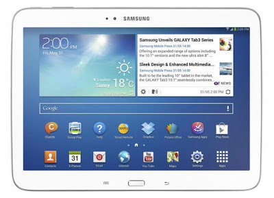 The new GALAXY Tab 3 10.1-inch photo
