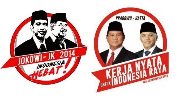 Gambar Jokowi - JK dan Prabowo - Hatta