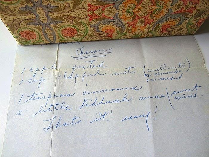 Sephardi (Middle Eastern, Greek, Turkish, etc) charoset is a paste ...