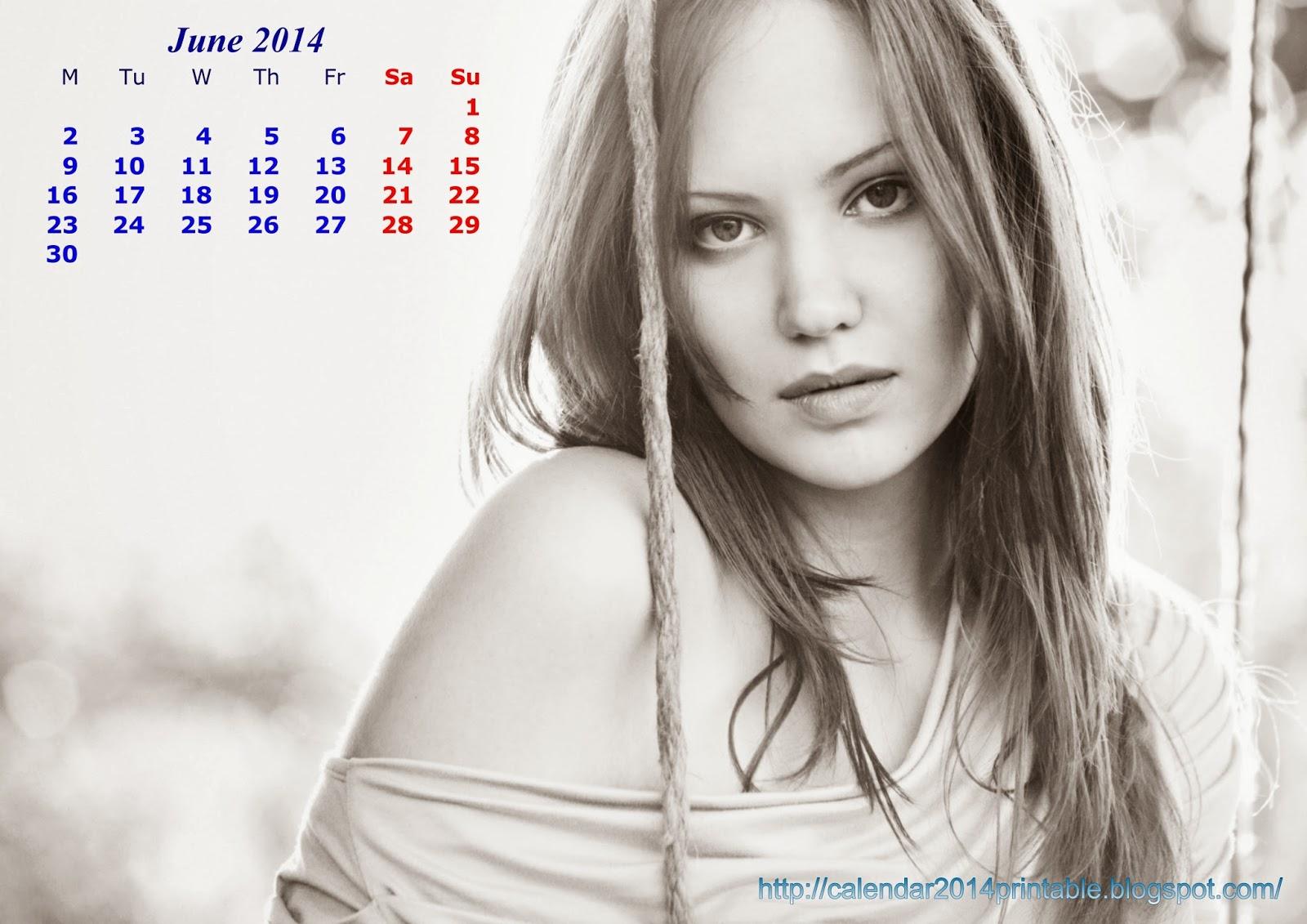 Calendar Girl May : Download beautiful girls wall calendar printable