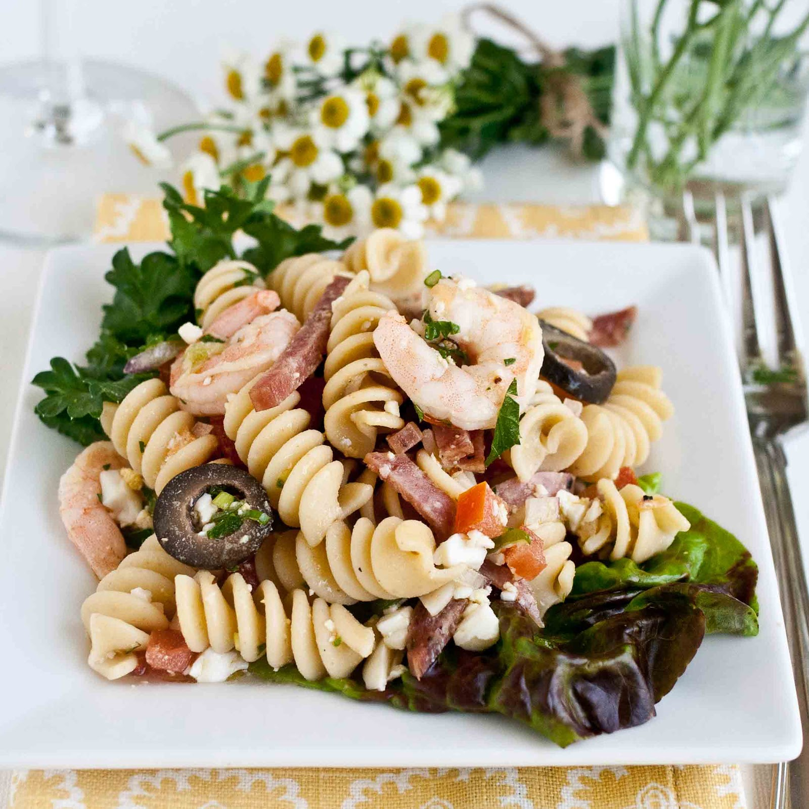pasta shrimp salad