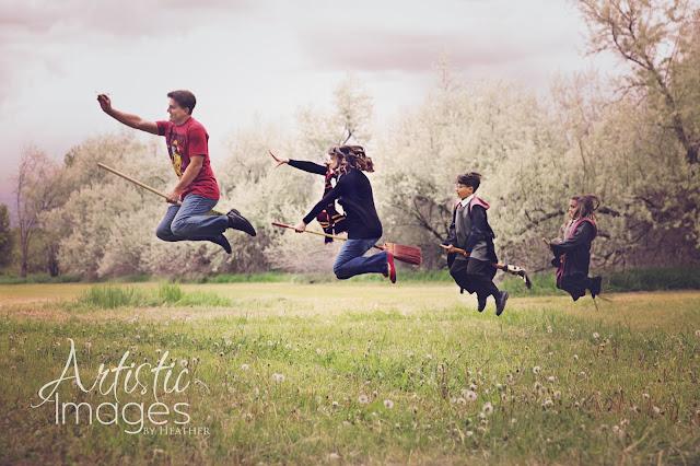Inspiration s ance photo en famille pour les fans de harry potter - Photo de famille originale ...