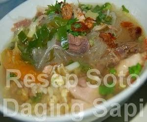 Resep Masakan Soto Daging Sapi Enak
