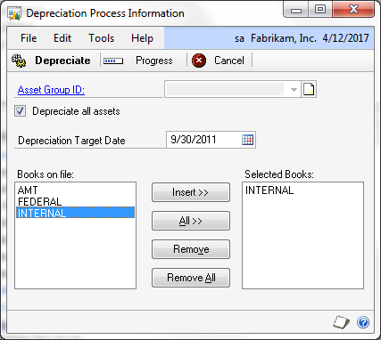 the dynamics gp blogster running fixed assets depreciation causes