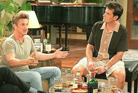 Photo of Charlie Sheen & his friend actor  Sean Penn - Longtime