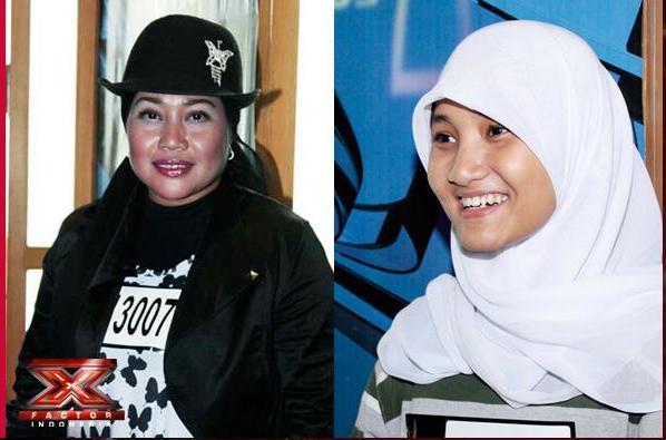 Ibu lisa dan Fatin X Factor Indonesia