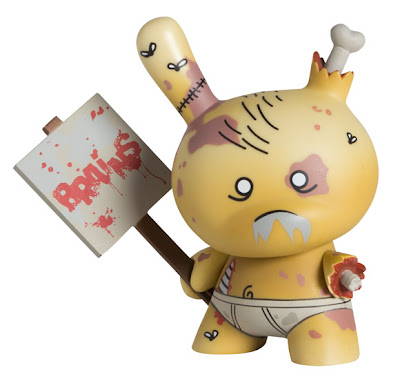 Kidrobot Dunny Series 2011 - The Americas Edition Zombie Dunny Colorway by Huck Gee
