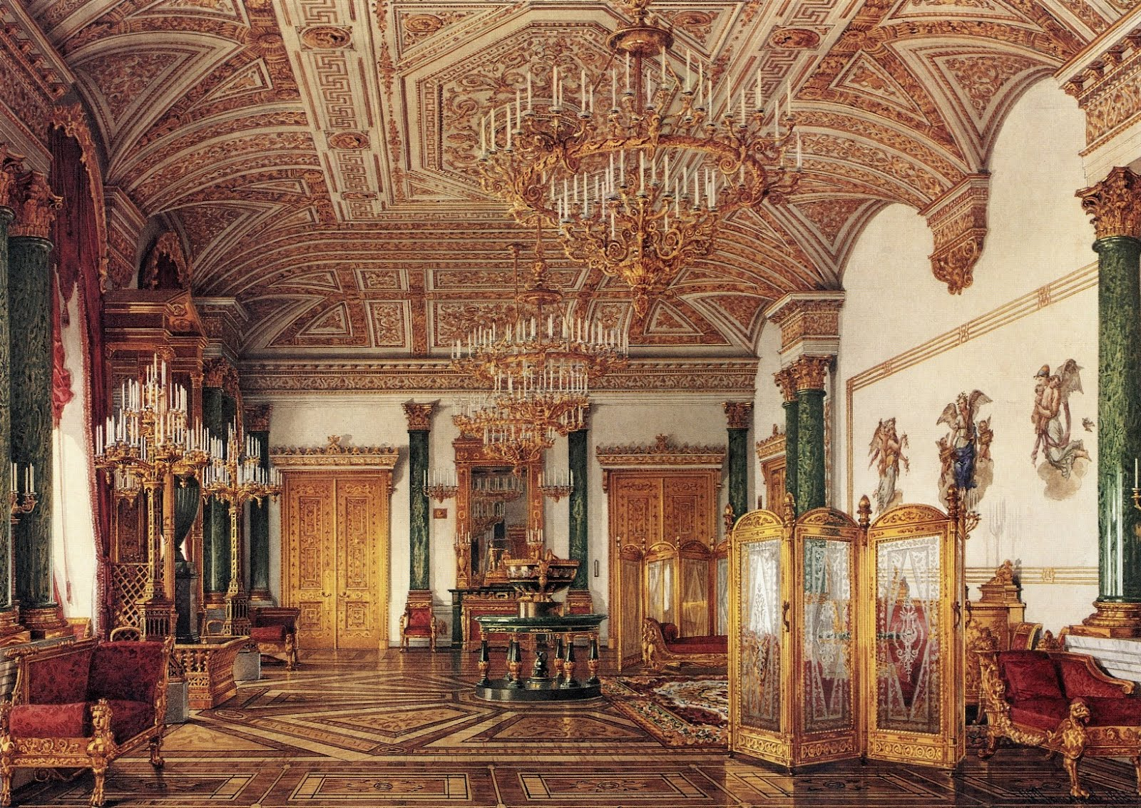 for pilar the suite of empress alexandra feodorovna at the winter palace in saint petersburg. Black Bedroom Furniture Sets. Home Design Ideas