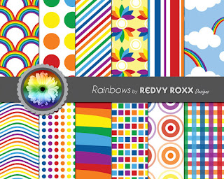 Printable Rainbow Patterns by RevyRoxx on etsy