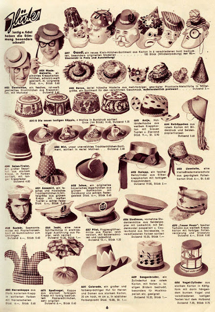 Page 6 of Karneval  katalog from 1955 - Einzinger & Co. Munchen - hats