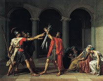 Oath of the Horatii by Jacques-Louis David art
