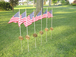American Flags -- Thanking Scott Andersen for picking up these American Flags and Flag Holders